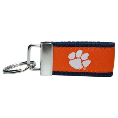 Clemson Tigers Ribbon Key Chain