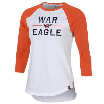Auburn Under Armour Women's Vault Performance Baseball Tee