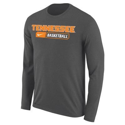 Tennessee Nike Straight Basketball Long Sleeve Dri-FIT Tee