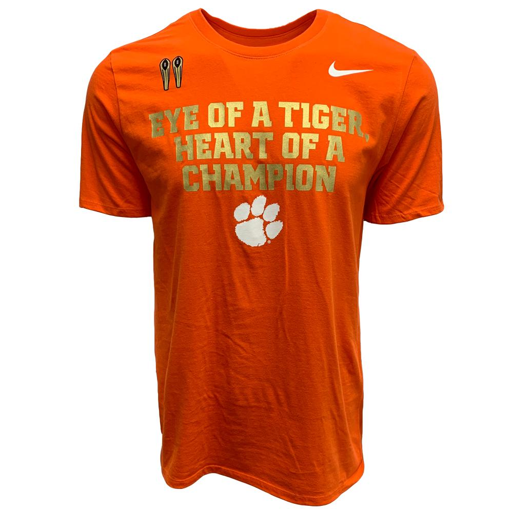 Clemson Nike Eye Of A Tiger Heart Of A Champion Tee