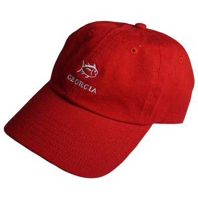 Georgia Southern Tide SkipJack Adjustable Hat RED