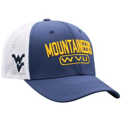 West Virginia Top of the World 3D Logo Mesh Back Cap