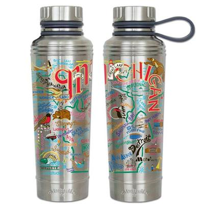 State of Michigan Catsudios Stainless Steel Thermal Water Bottle