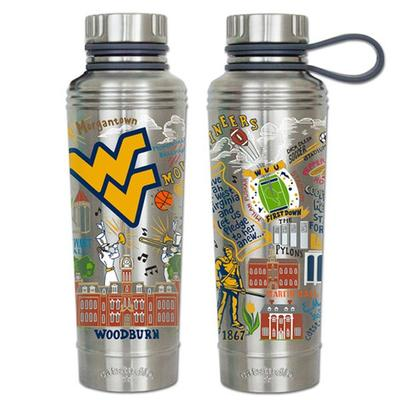 West Virginia Catsudios Stainless Steel Thermal Water Bottle