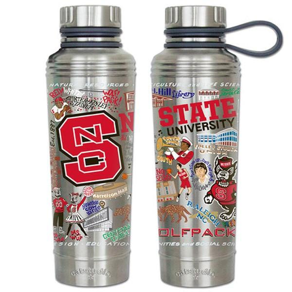 Nc State Catsudios Stainless Steel Thermal Water Bottle