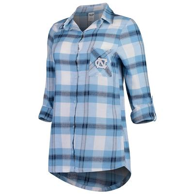UNC Women's Flannel Nightshirt