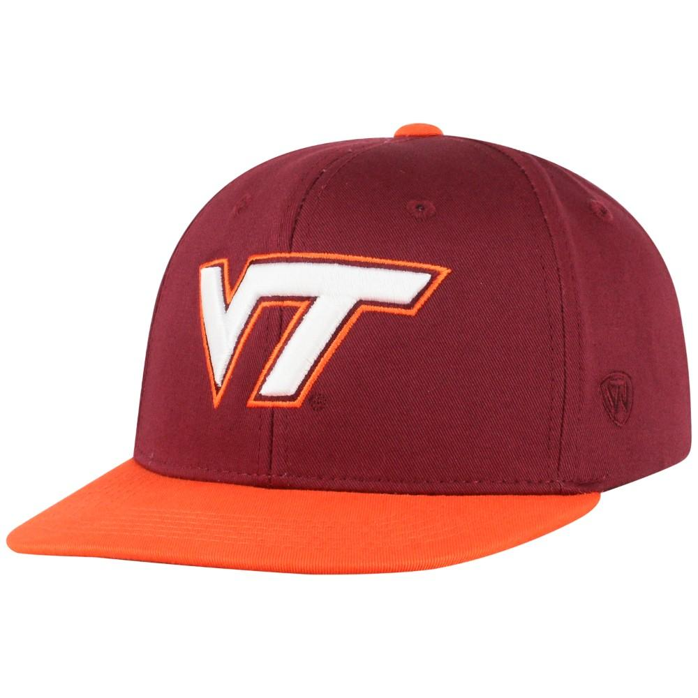 Virginia Tech Top Of The World Youth Maverick Flatbrim Hat