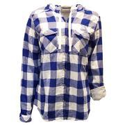 Kentucky Columbia Women's Times Two Hooded Long Sleeve Flannel Shirt