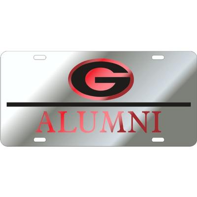 Georgia Power G Fill Logo Alumni License Plate