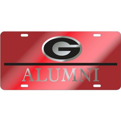Georgia Red and Silver Power G Logo Alumni License Plate