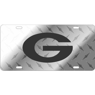 Georgia Power G Diamond Plate Patterned License Plate