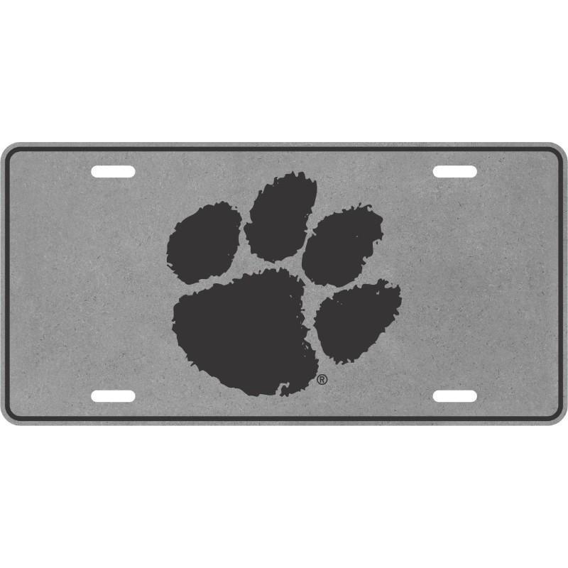 Clemson Paw Logo License Plate