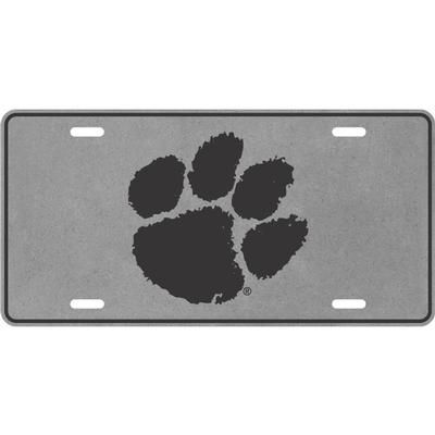 Clemson Paw Logo License Plate