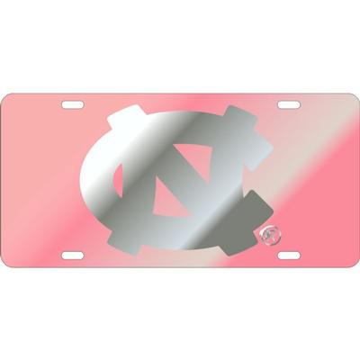 UNC Pink Primary Logo License Plate