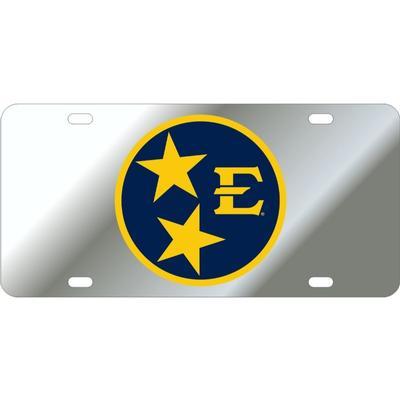 ETSU Silver Tristar License Plate