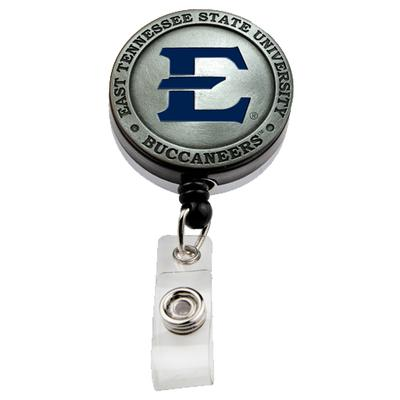 ETSU Heritage Pewter Premium Badge Reel
