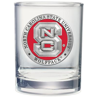 NC State Heritage Pewter Rocks Glass