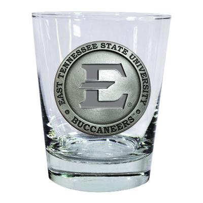 ETSU Heritage Pewter Rocks Glass (Pewter Emblem)