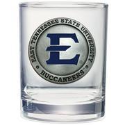 Etsu Heritage Pewter Rocks Glass (Blue Emblem)