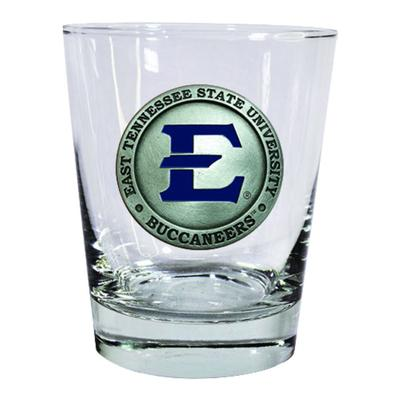 ETSU Heritage Pewter Rocks Glass (Blue Emblem)