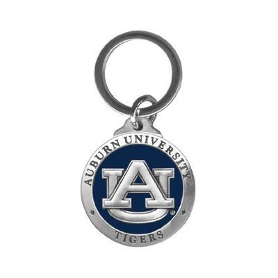Auburn Heritage Pewter Key Chain (Blue Emblem)