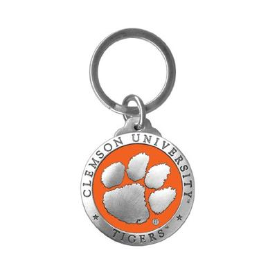 Clemson Heritage Pewter Key Chain (Orange Emblem)