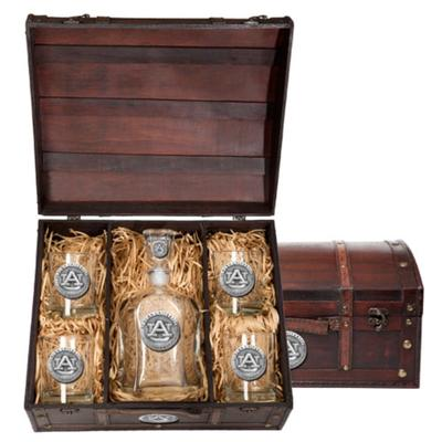 Auburn Heritage Pewter Capitol Decanter Chest Set