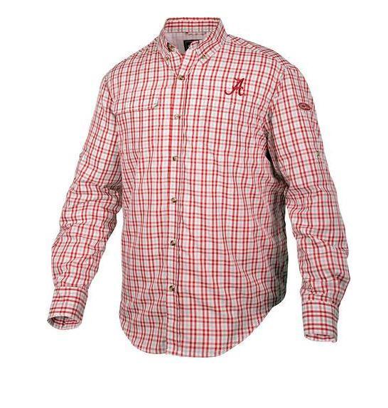 Alabama Drake Gingham Plaid Wingshooter's Long Sleeve Shirt