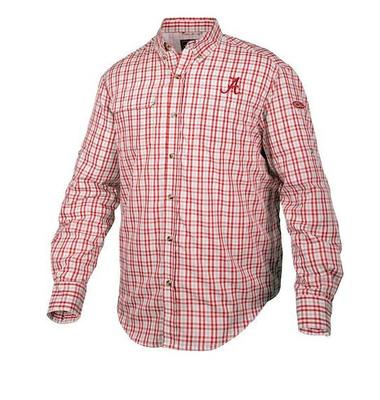 Alabama Drake Gingham Plaid Wingshooter's Long Sleeve Shirt