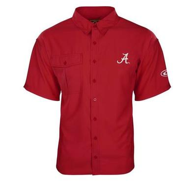 Alabama Drake Flyweight Short Sleeve Button Down Shirt