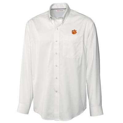 ***Custom Order*** Clemson Cutter And Buck Big And Tall Fine Twill Button Down