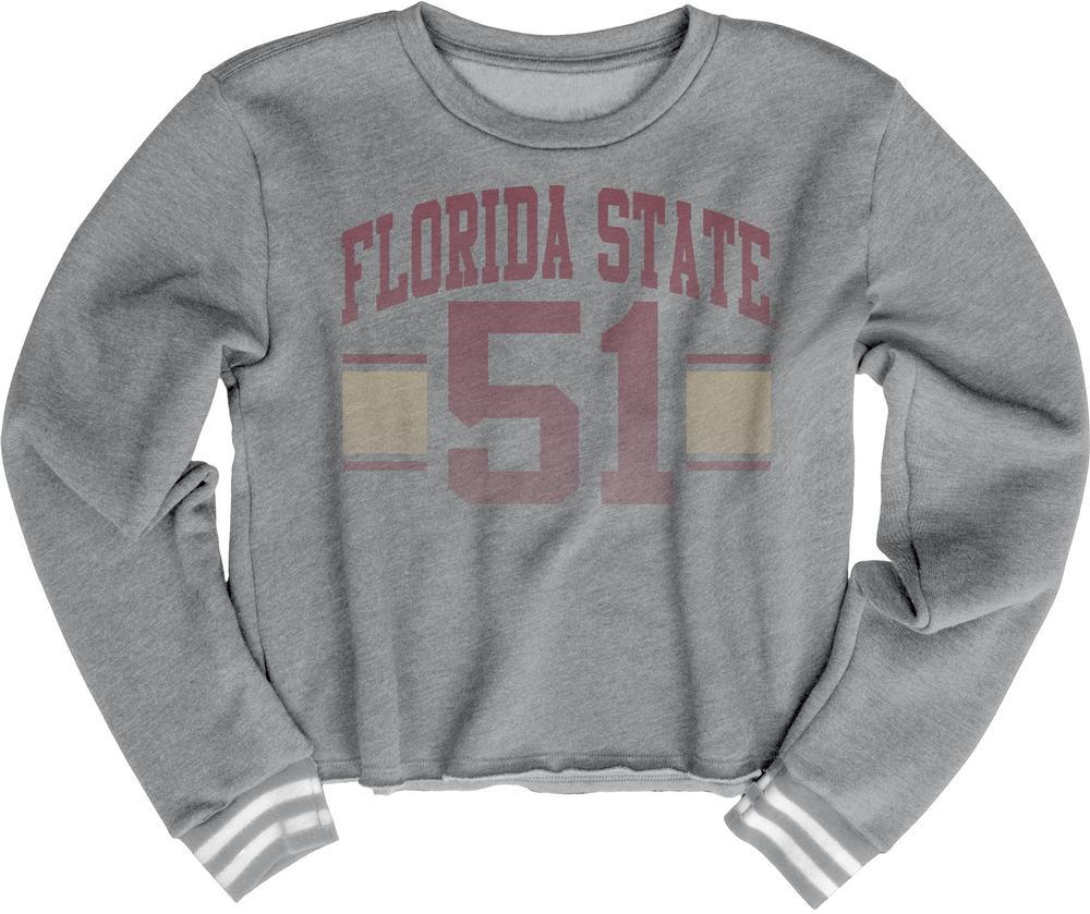 Florida State Blue 84 Women's Quinn Varsity Crop Top