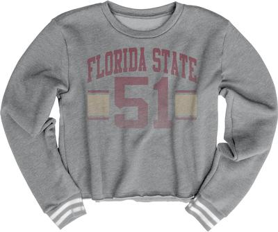 Florida State Blue 84 Women's Quinn Varsity Crop Top