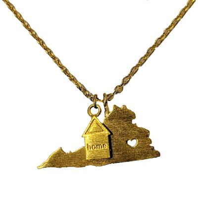 Virginia State Pride Gold Necklace