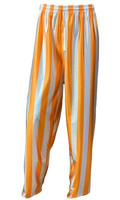 Orange & White Striped Basketball Pants