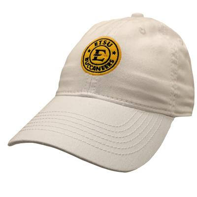 ETSU Legacy Women's Circle Logo Twill Cap WHITE