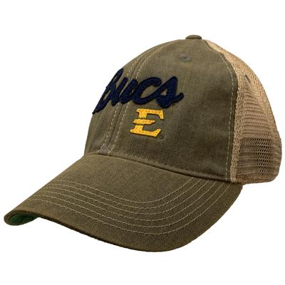 ETSU Legacy Flex Fit Mesh Trucker Hat GREY/MESH
