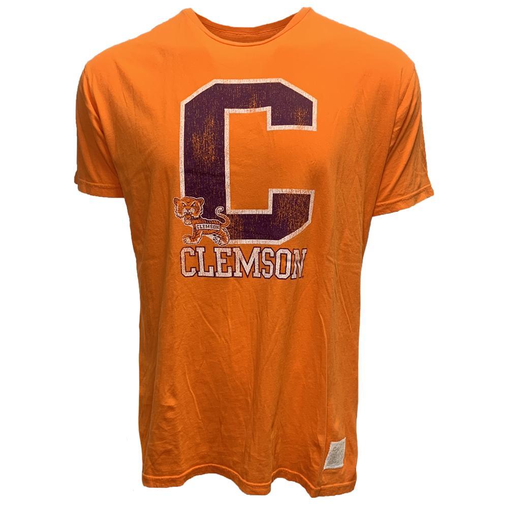 Clemson Retro Brand Block C Vintage Tee