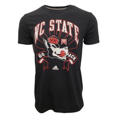NC State Adidas Vault Logo Performance Tee
