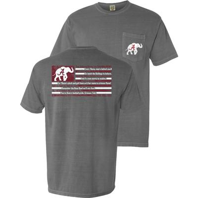 Alabama Fight Song Comfort Colors Flag Tee