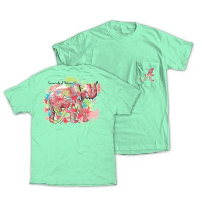 Alabama Watercolor Elephant Comfort Colors Tee