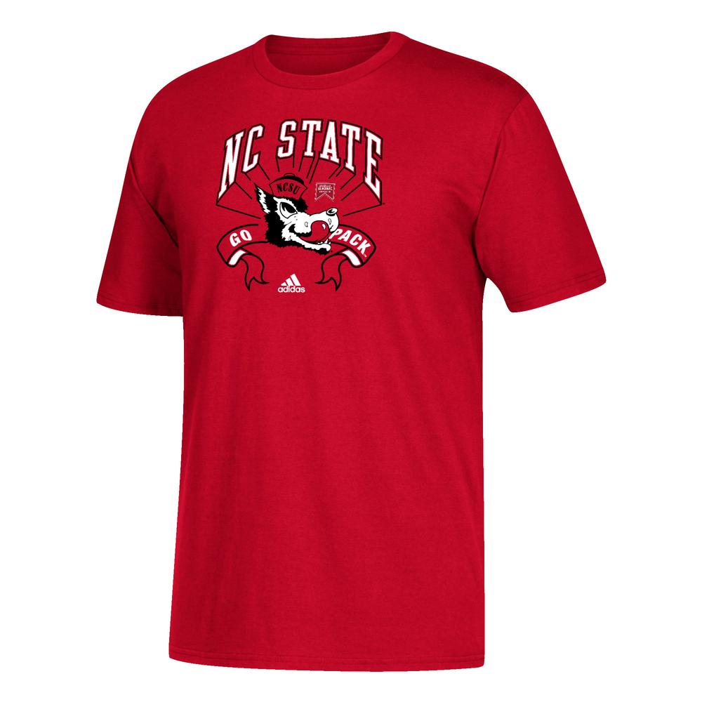 Nc State Adidas Youth Vault Logo Performance Tee