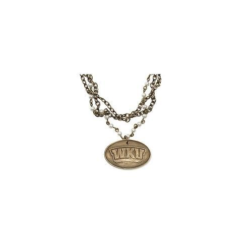 Western Kentucky Legacy Bronze Pearl Necklace
