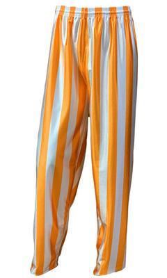 Orange & White Striped Youth Basketball Pants