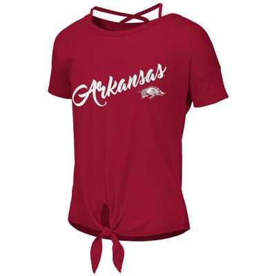 Arkansas Colosseum Youth Ballerina Tie Tee