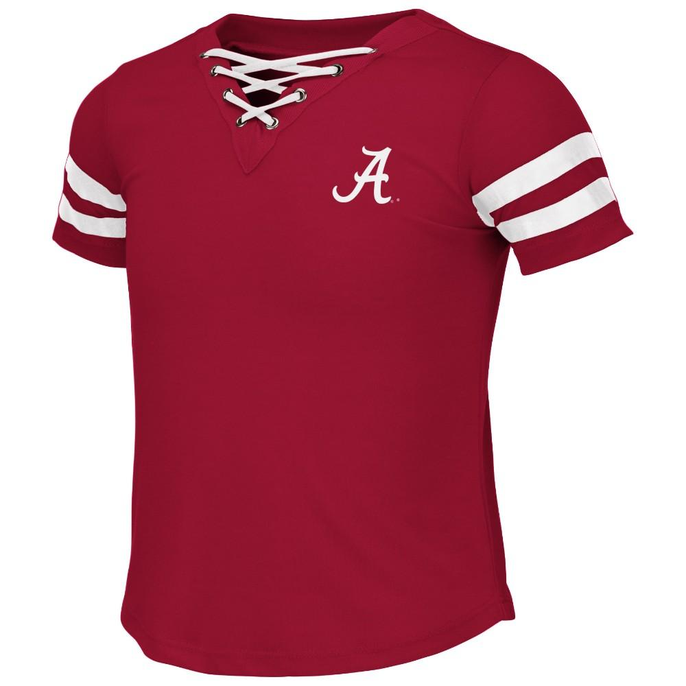 Alabama Colosseum Youth Girls Lace Up Tee