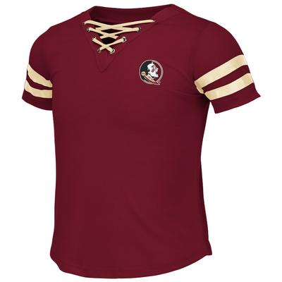 Florida State Colosseum Youth Girls Lace Up Tee