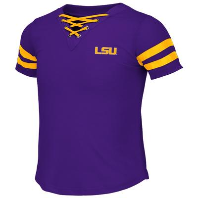 LSU Colosseum Youth Girls Lace Up Tee