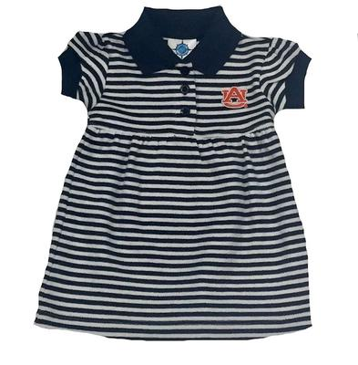 Auburn Infant Striped Dress with Bloomer