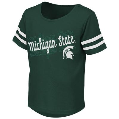 Michigan State Colosseum Toddler Girls Hamburg Tee